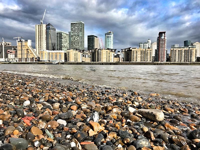 The Thames beach...