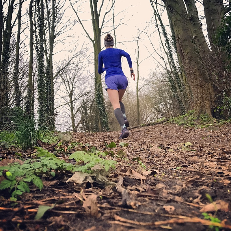 Powering up the hill at parkrun!
